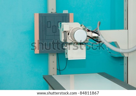 X-ray machine station without people - stock photo