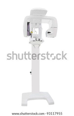 x-ray unit for dentistry under the white background - stock photo