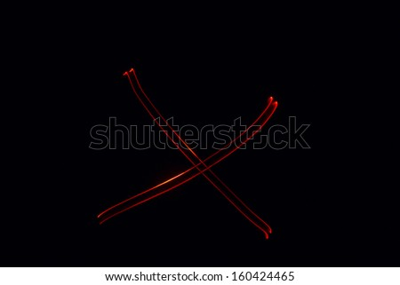 X - torch light alphabet letters - stock photo