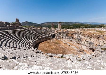 Xanthos Ancient City - stock photo