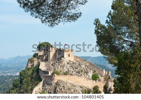 Xativa Castle, Valencia, Spain - stock photo