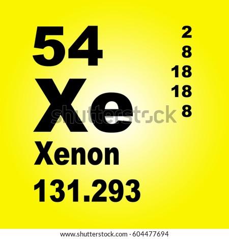 Xenon periodic table elements stock illustration 604477694 xenon periodic table of elements urtaz Images