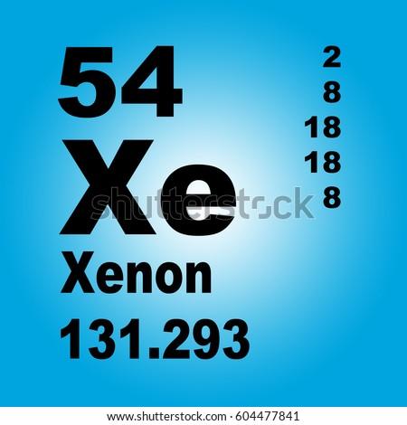Xenon periodic table elements stock illustration 604477841 xenon periodic table of elements urtaz Image collections