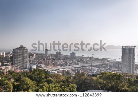 Xiamen city in China - stock photo