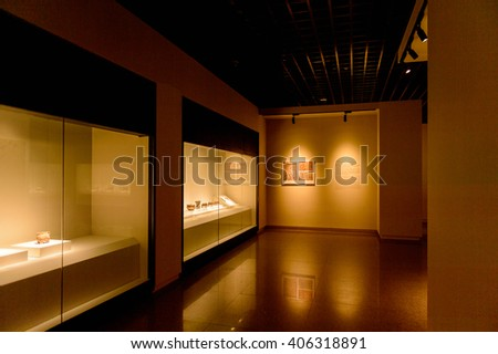 XIAN, CHINA - MAR 29, 2016: The exhibition of the ancient weapons, Xian, China. Part of the Terracotta Army visiting complex