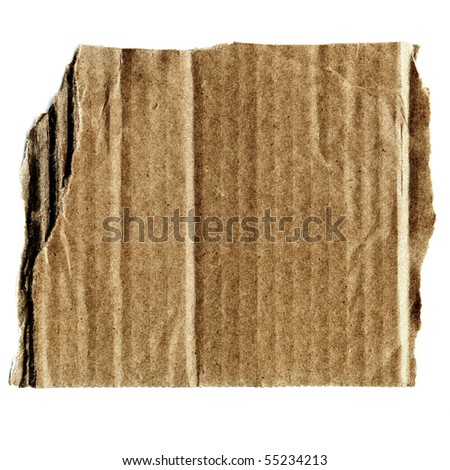XL Real Cardboard Scrap - stock photo