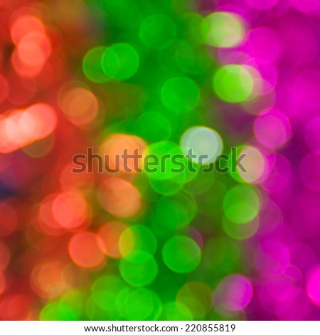 Xmas abstract  bokeh light colorful  for background