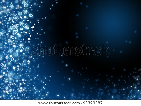 Xmas background with snowflakes - stock photo