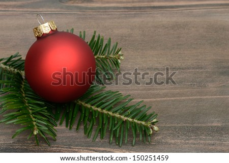 Xmas ball - stock photo