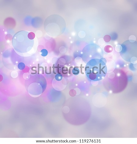 Xmas lite backgrounds with beauty bokeh - stock photo