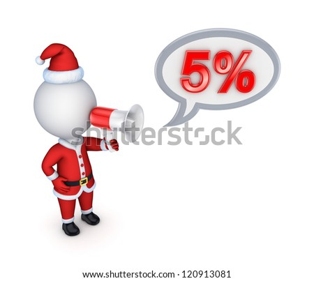 Xmas sale concept.Isolated on white background. 3d rendered. - stock photo