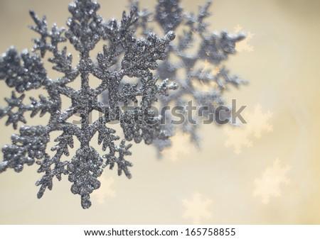 xmas snowflakes - stock photo
