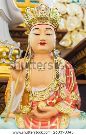Xuanzang buddha Chinese priest. - stock photo