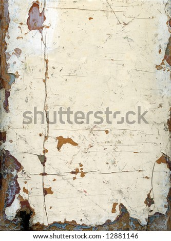 XXL grungy painted wood great for backgrounds. - stock photo