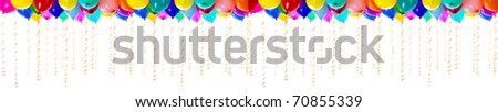 XXL high resolution colorful balloons isolated on white - stock photo
