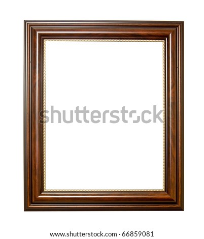 XXL-Isolated wooden Photo Frame - stock photo