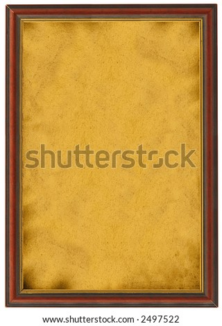 XXL size empty painting isolated on white