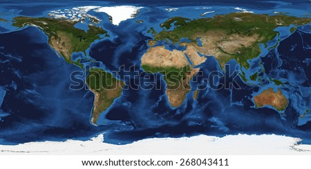 XXL size physical world map illustration. Primary source, elements of this image furnished by NASA. Extra large big map with highest detail avalable. 200 Mega Pixels resolution. - stock photo