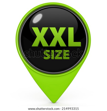 XXL size pointer icon on white background