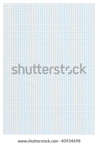 XXXL size piece of squared paper on white background - stock photo