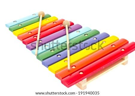 Xylophone Isolated on White Background - stock photo