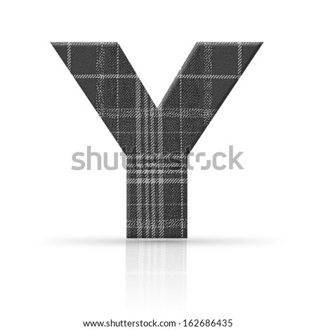 y letter plaid fabric texture