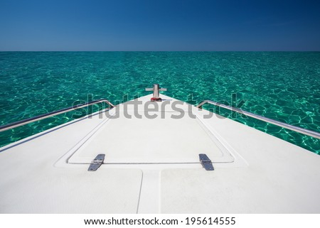 Yacht boats running in the sea. Traveling - stock photo