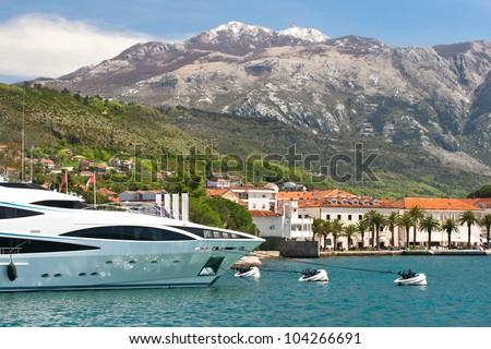 Yacht club in Montenegro - stock photo