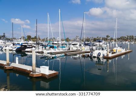 Yacht Club in San Diego, California - stock photo