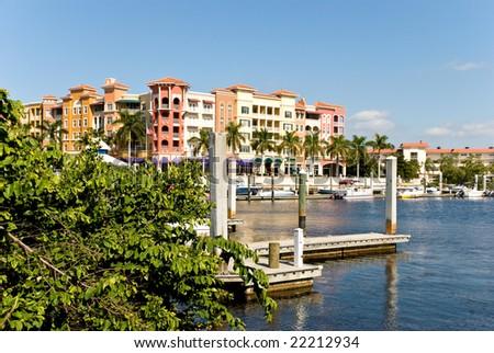 Yacht Harbor in Naples ,Florida - stock photo