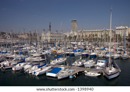 Yacht Harbour in Barcelona, Spain - stock photo