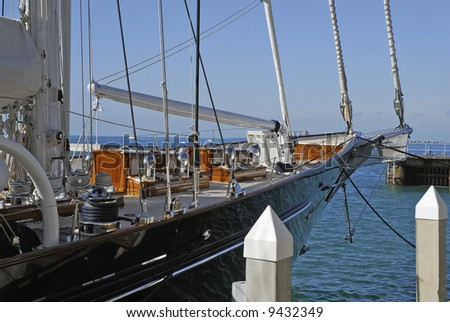 Yacht in Key West - stock photo