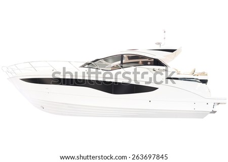 Yacht isolated on a white background