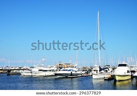 Yacht marina in yokohama, Japan - stock photo