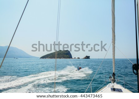yacht open sea view background