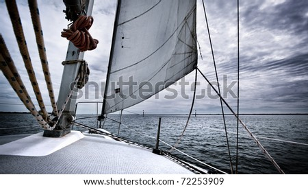 Yacht Sailing - stock photo
