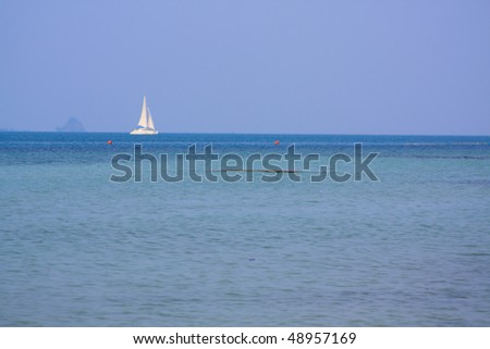 Yacht sailing on the sea