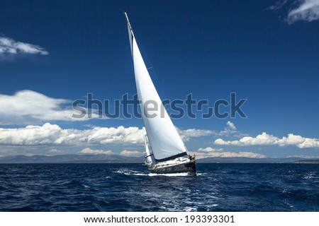 Yachting, sailing regatta. Luxury yachts. - stock photo