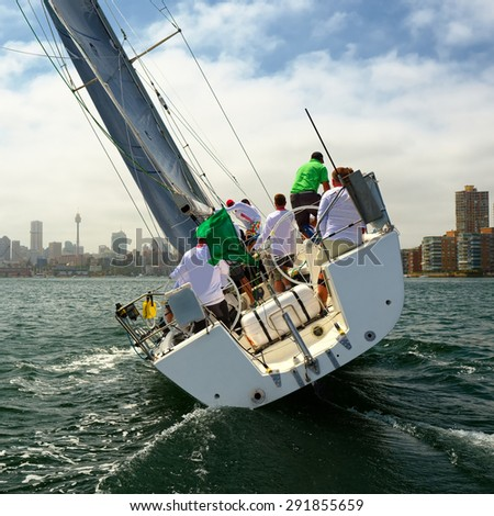 Yachting. The collection the best sailing - stock photo