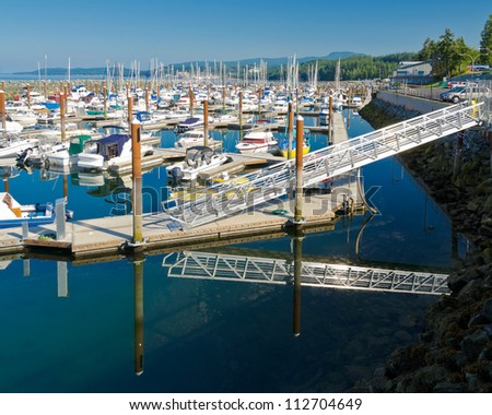 Yachts and boats in Vancouver, Canada - stock photo