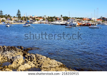 Yachts and boats, Punta del Este, Uruguay - stock photo