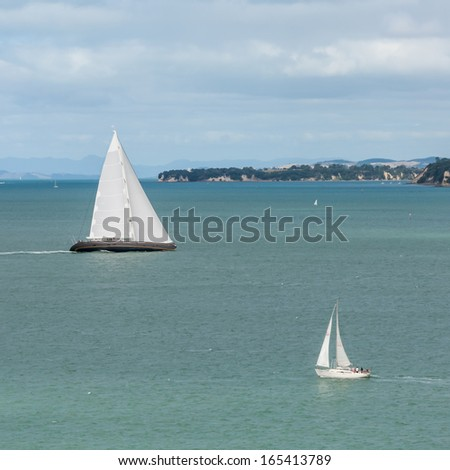 yachts in Hauraki Gulf, New Zealand