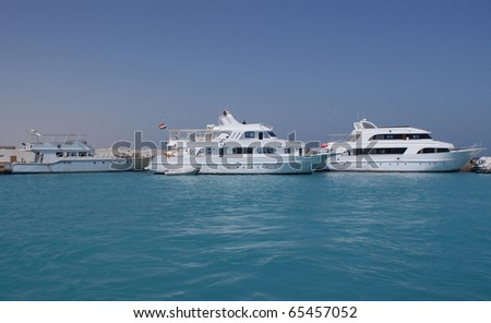 Yachts in the Red Sea - stock photo