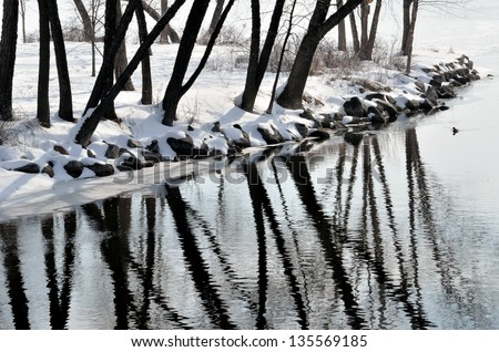 Yahara River in Madison, Wisconsin - stock photo