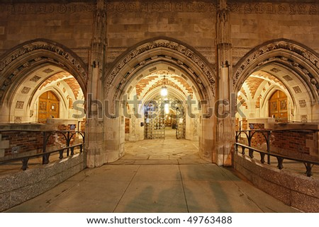 Yale Library Building, Yale University, New Haven, Connecticut - stock photo