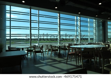 YANGON, MYANMAR - JULY 25, 2016 : Yangon International Airport interior design, Yangon, Myanmar