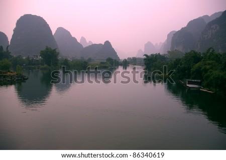 Yangsho landscape - stock photo