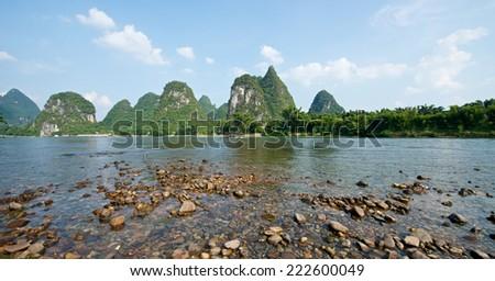 Yangshuo Guilin in Guangxi province in China - stock photo
