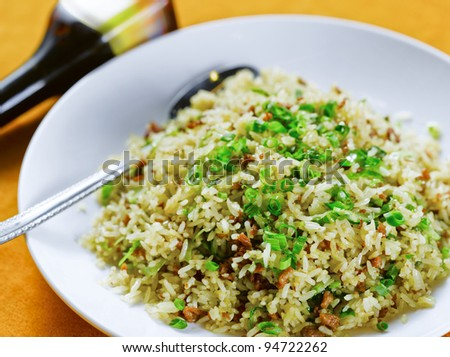Yangzhou fried rice - stock photo