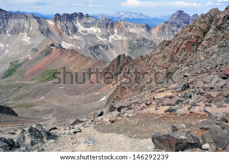 Yankee Boy Basin, San Juan Range, Rocky Mountains, Colorado - stock photo